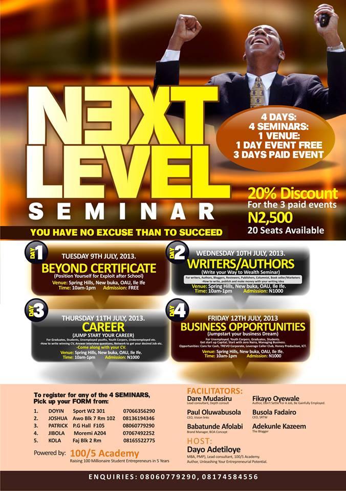 Next Level Seminar