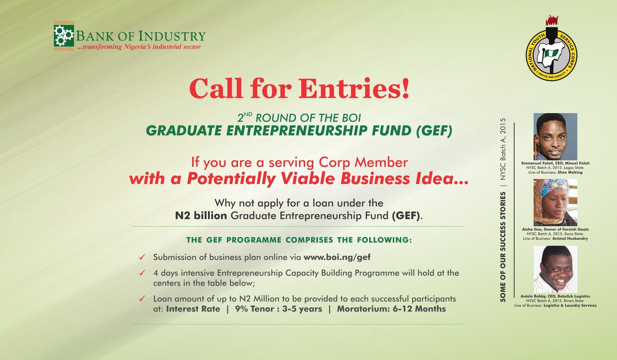 apply-for-2nd-edition-bank-of-industry-n2-million-loan-for-nysc-youth-corp-members
