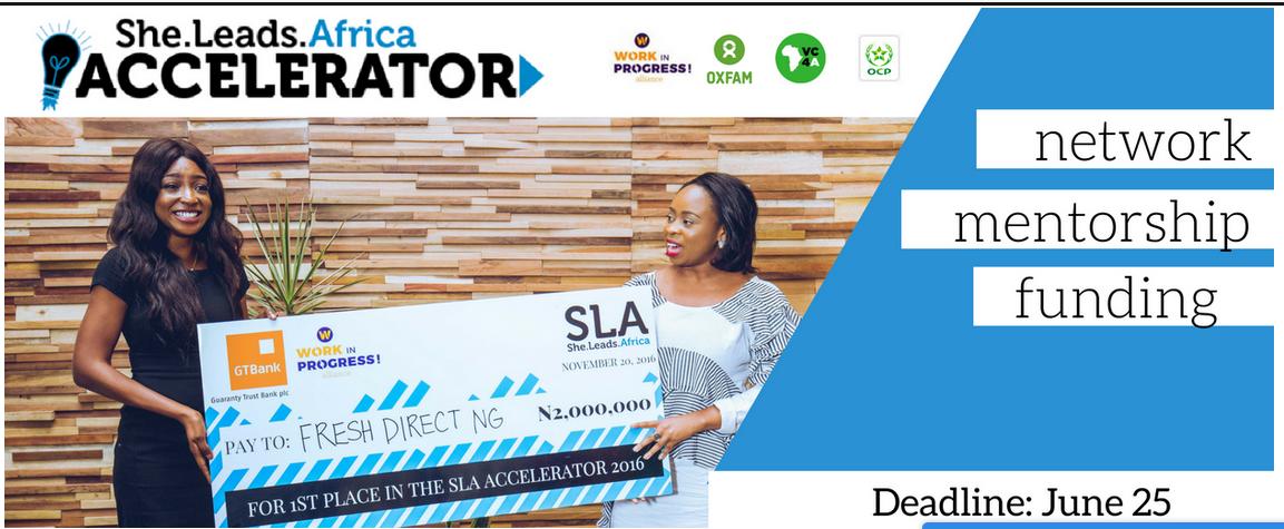 Female Entrepreneurs Only: Apply for 2017 She leads Africa (SLA) N2Million Grant in Nigeria
