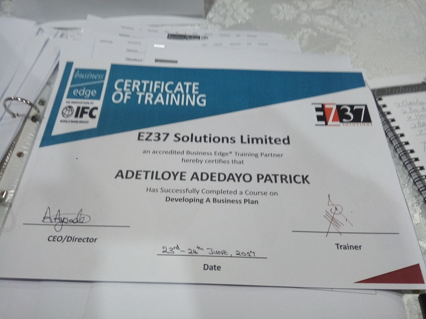 Business plan for training
