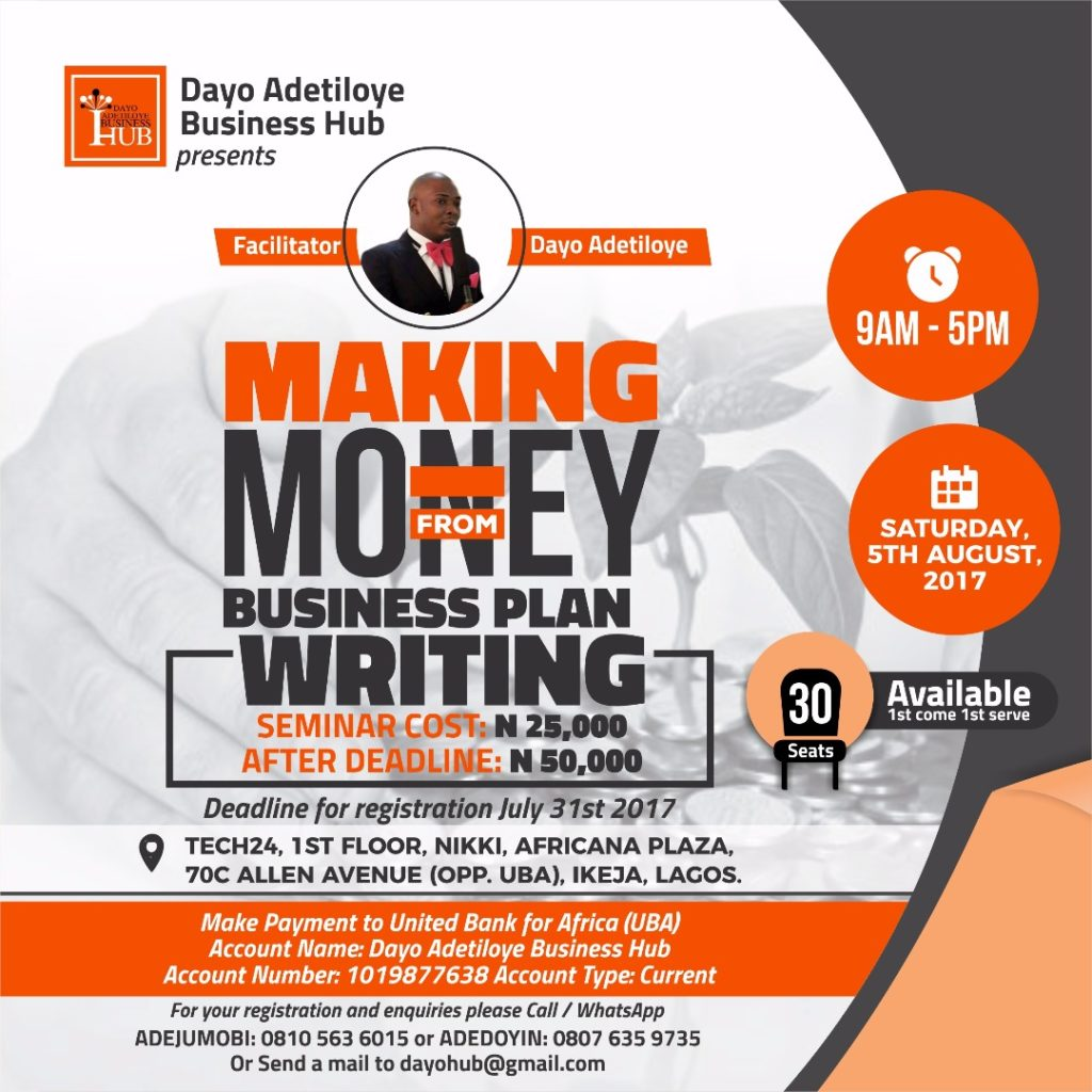 business plan dayo adetiloye business hub
