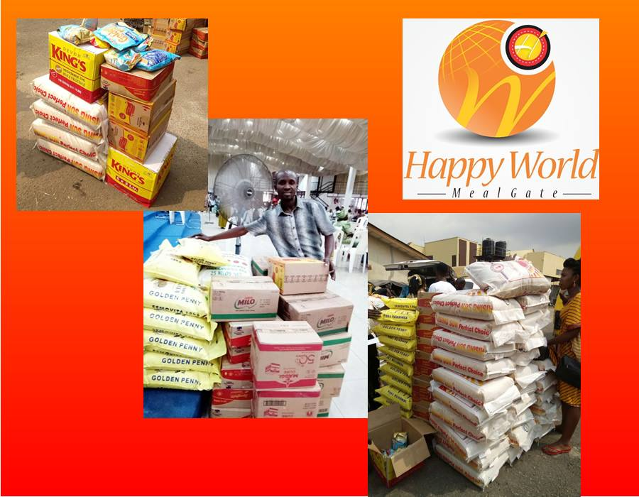 Happy World Meal Gate is NOT OWNED OR SPONSORED BY: Dangote, Nestle, PZ Cussons, Wamco, Golden Penny, Fresco Foods etc.