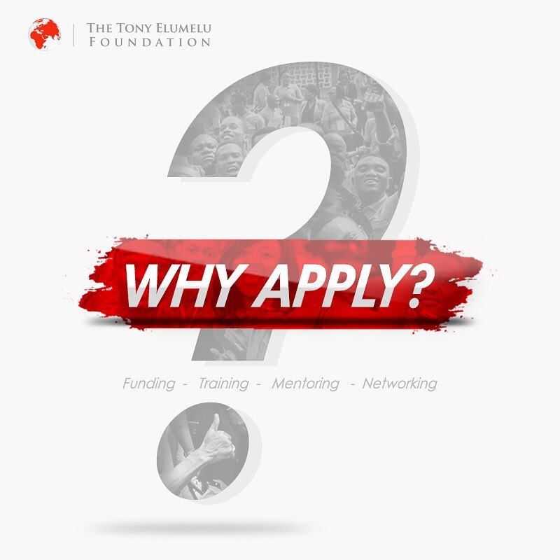 Apply for 2018 Tony Elumelu Foundation $5000 Grant for all African Countries, Closes by 1st of March 2018