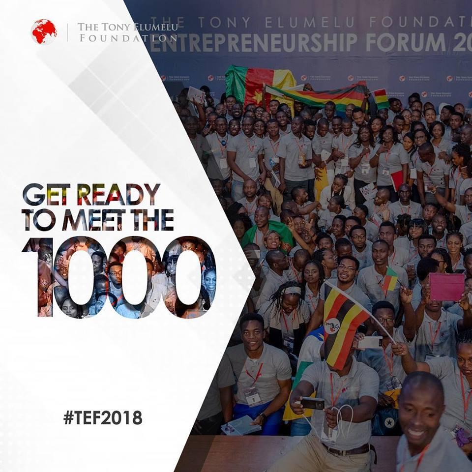 1000 List of Tony Elumelu Foundation Grant Winners for 2018 is Here!