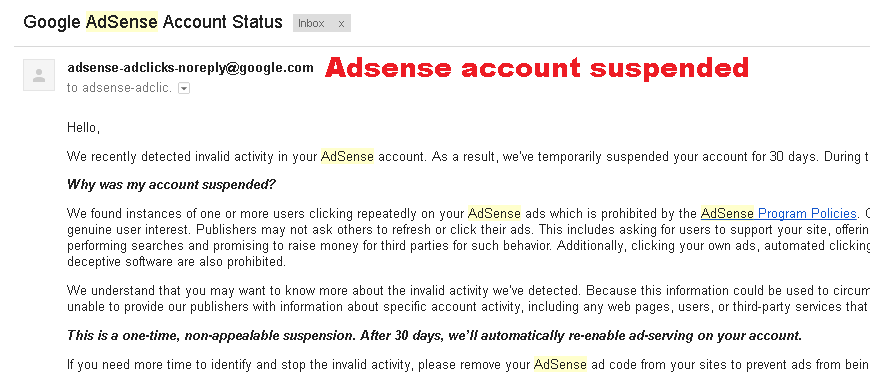 Enable Permanently Disabled Google Adsense Account