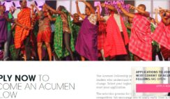 Apply Now to Become an Acumen Fellow