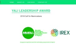 Call for Nominations: YALI Leadership Award 2018 for Young Leaders in Nigeria