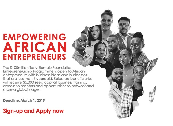 2019 Tony Elumelu Foundation $5000 Grant Application Questions (TEF5)
