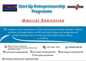 Special Invitation to Start Up Entrepreneurship Programme