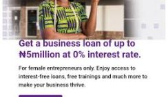 Apply for FCMB ₦5million Zero Interest Loan. Application closes 7th June.