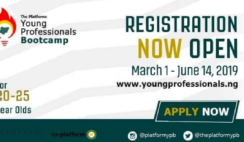 Apply for 2019 Young Professionals Bootcamp (YPB) for 20-25 Years olds.
