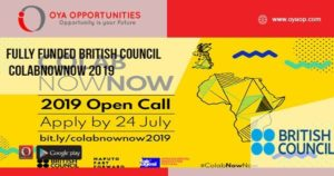Apply for British Council ColabNowNow 2019   Deadline: July 24