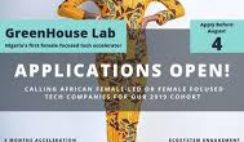 GreenHouse Capital Accelerator Program for Female-Led Technology Start-Ups 2019 ($100K USD Minimum Investment)